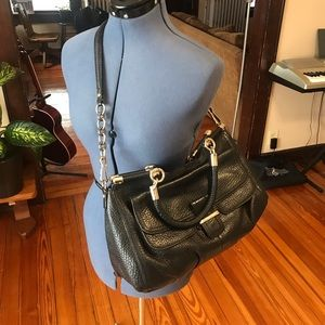 COACH MADISON PINNACLE LEATHER CARRIE SATCHEL